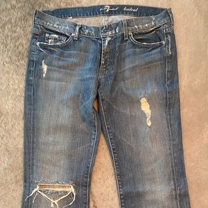 7 For All Mankind Distressed Jeans 31x33